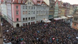 Image of a protest on restrictive abortion law - Black monday Poland
